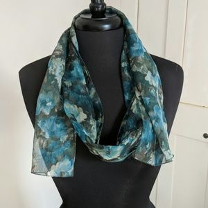Accessories - 💕Green Floral Fashion Scarf